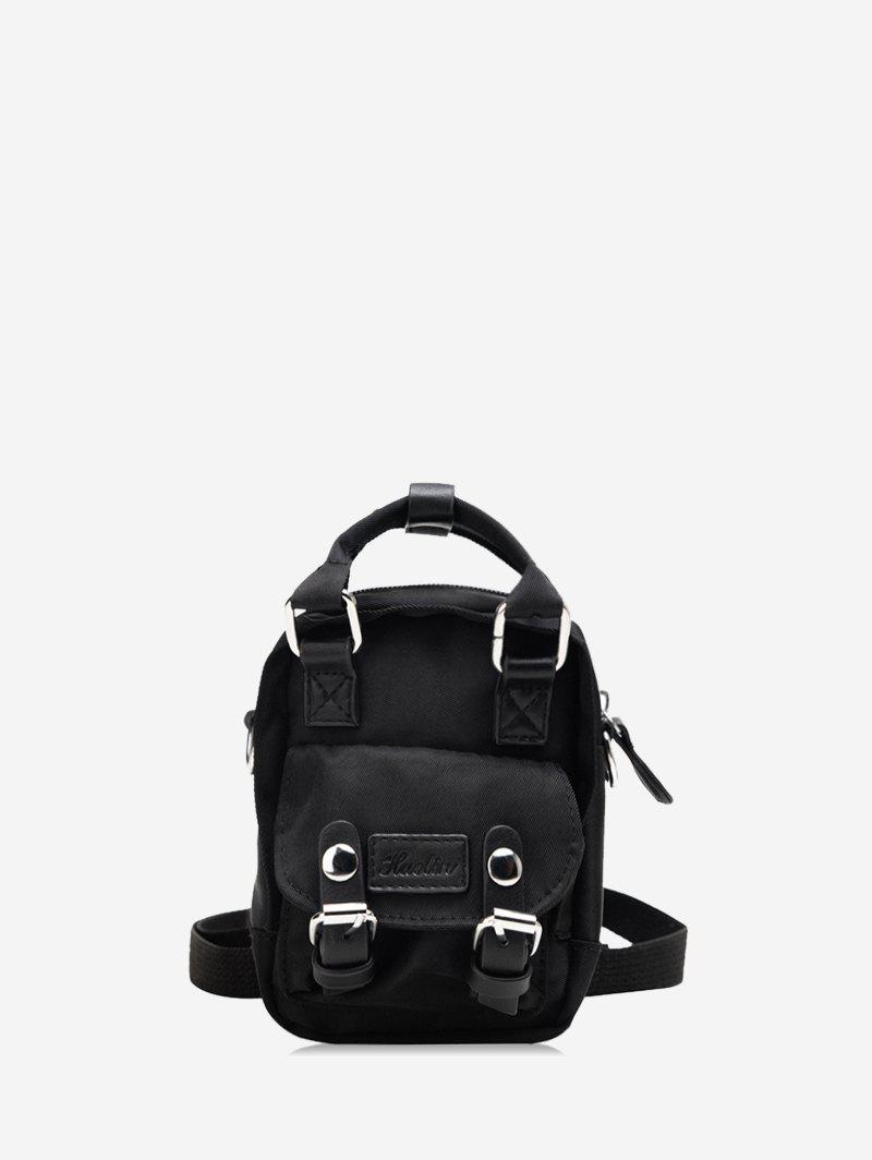 Best Solid Color Buckle Decoration Casual Backpack
