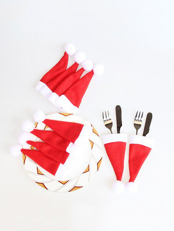 Latest 10PCS Christmas Hat Tableware Covers