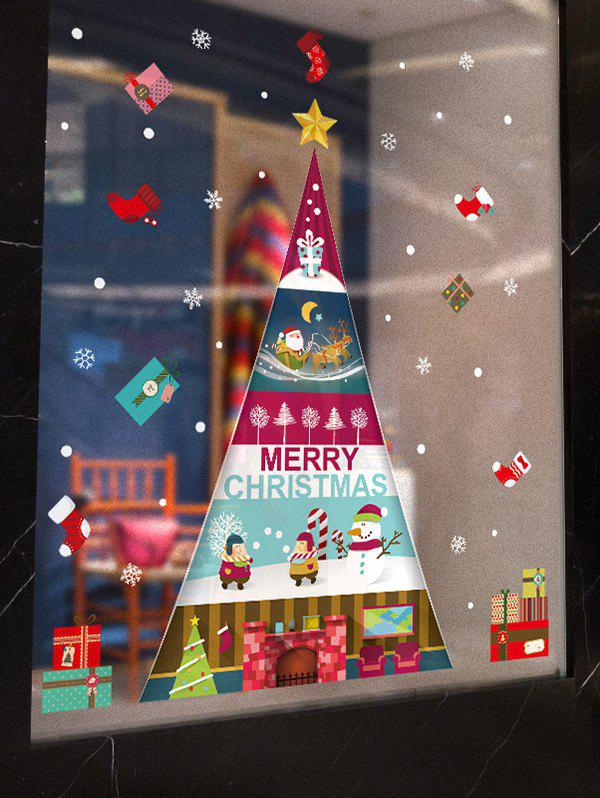 New Christmas Tree Greeting Print Removable Wall Art Stickers