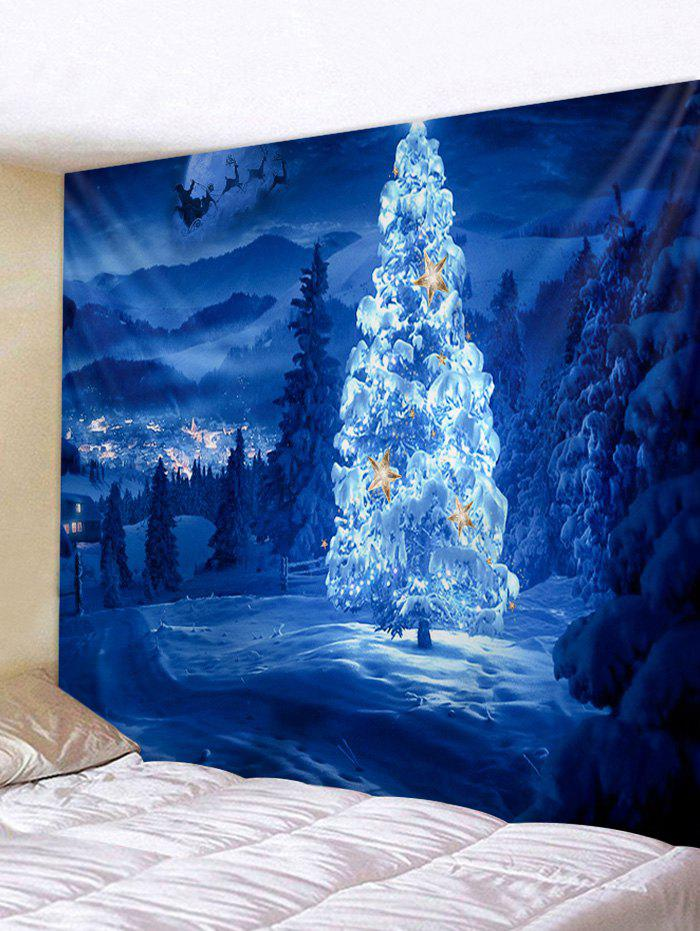 Outfits Christmas Tree Forest Printed Tapestry Wall Hanging Art Decoration