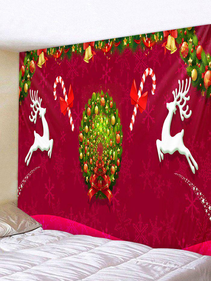 Store Christmas Wreath Deer Print Tapestry Wall Hanging Art Decoration