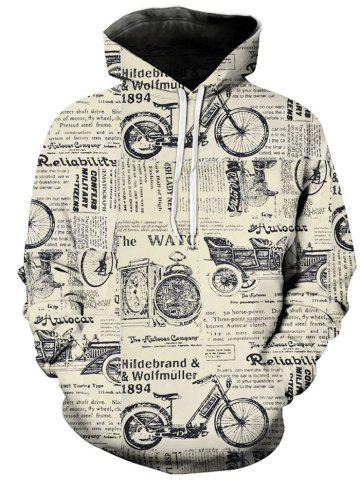 Graphic Letter Print Long-sleeved Hoodie