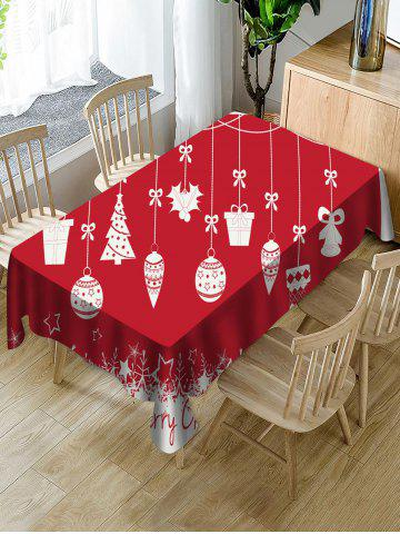 Christmas Tree Gift Bell Fabric Waterproof Table Cloth - MULTI - W60 X L84 INCH