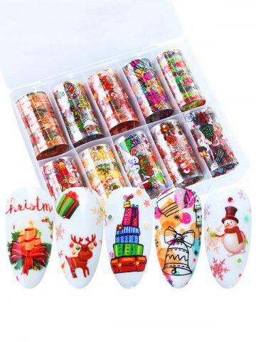 10Pcs Christmas Theme Nail Stickers