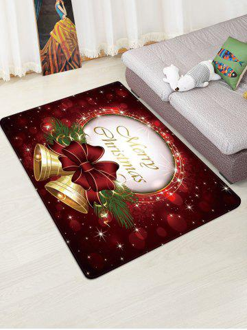 Christmas Bowknot Bells Greeting Pattern Water Absorption Area Rug