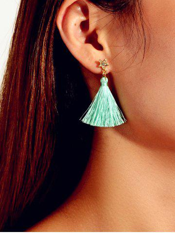 Tassel Star Rhinestone Drop Earrings