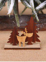 Christmas Decoration DIY Tree and Elk Shape Wooden Ornaments -