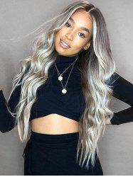 Synthetic Center Part Long Wavy Wig -