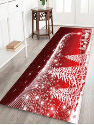 Christmas Tree Village Pattern Water Absorption Area Rug -