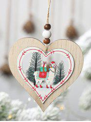Christmas Tree Decoration Animal Pattern Heart Tree Star Shape Hanging Sign -