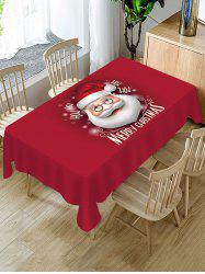 Christmas Santa Claus Greeting Printed Fabric Tablecloth -