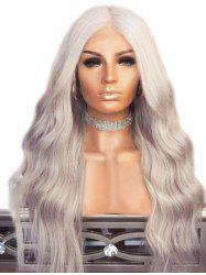 Synthetic Wavy Long Center Part Wig -