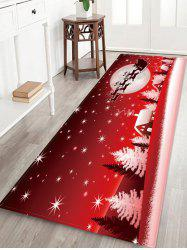 Christmas Sleigh Town Moon Night Pattern Water Absorption Area Rug -
