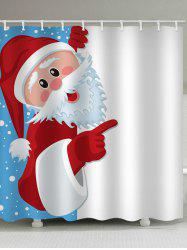 Father Christmas Waterproof Shower Curtain -