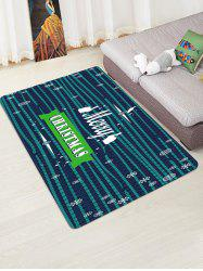 Christmas Greeting Snowflake Pattern Water Absorption Area Rug -