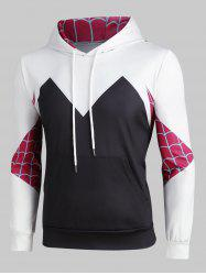 Creative Spider Web Print Front Pocket Hoodie -