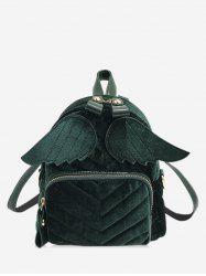 Winged Corduroy Front Pocket Mini Backpack -
