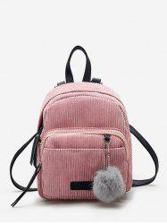 Fuzzy Ball Canvas Small Backpack -