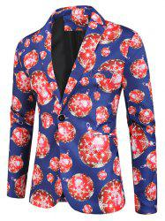 Snowflake Pattern Long-sleeved Button Blazer -