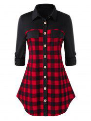 Plus Size Checked Shirt -