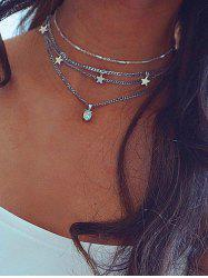 Star Pendant Layered Necklace -
