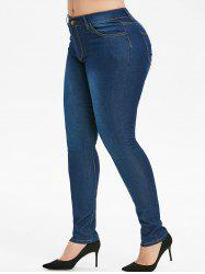 Plus Size Basic Skinny Jeans -