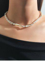 Faux Pearl Necklace -