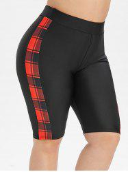 Plus Size Plaid Swim Shorts -