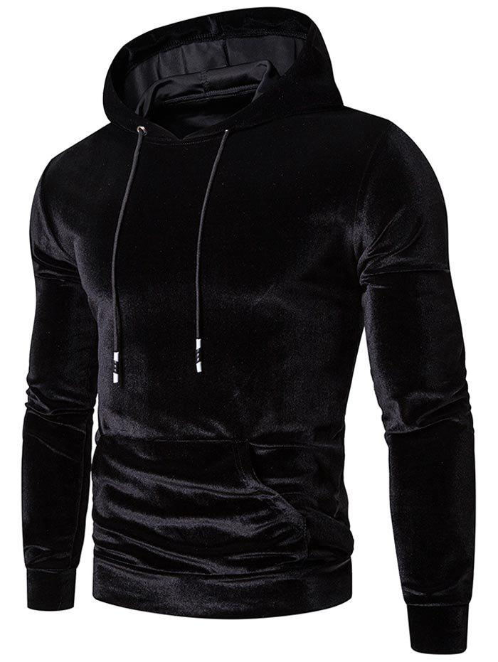 Fancy Solid Color Casual Pocket Hoodie