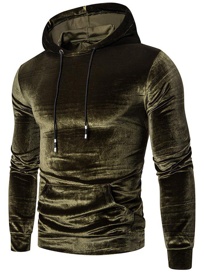 Affordable Solid Color Casual Pocket Hoodie