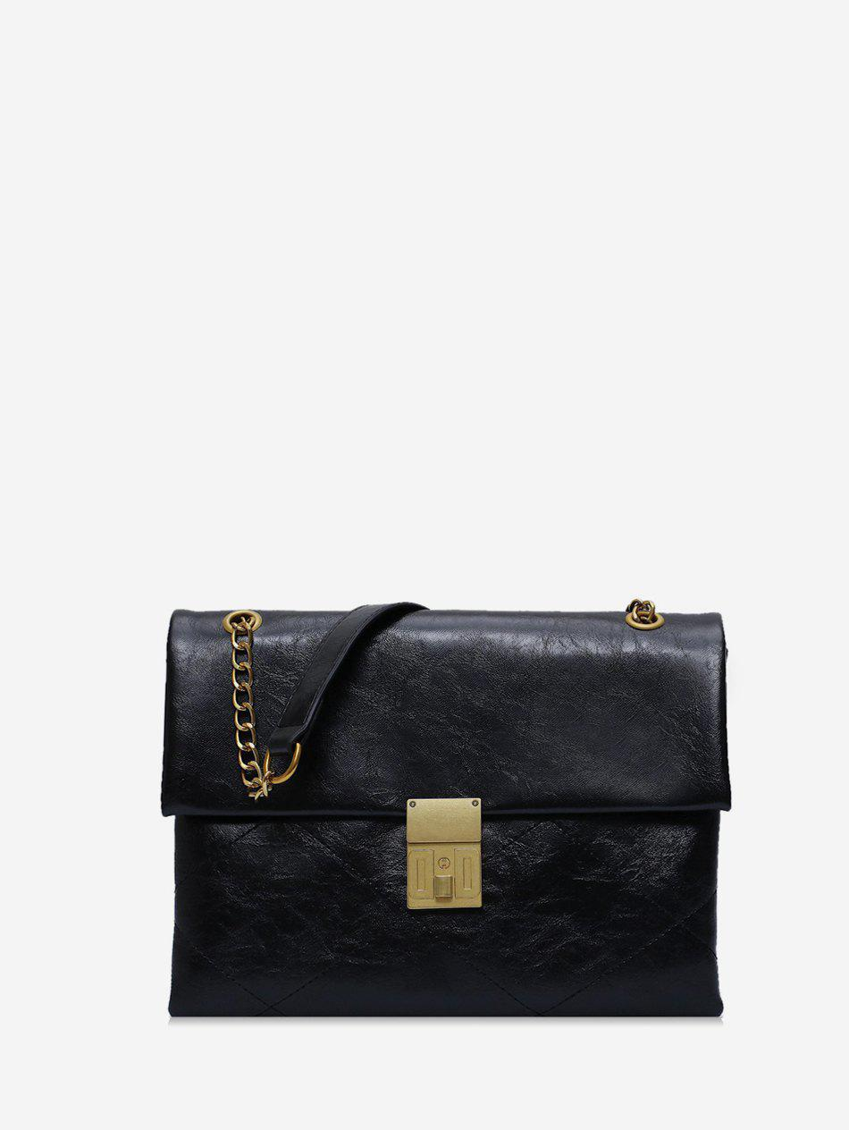 Fancy Solid Simple Chain Shoulder Bag