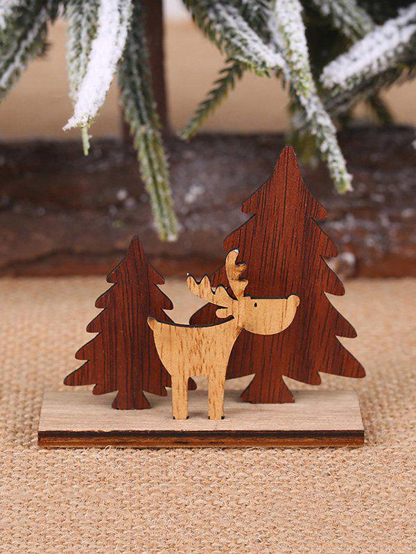 Affordable Christmas Decoration DIY Tree and Elk Shape Wooden Ornaments