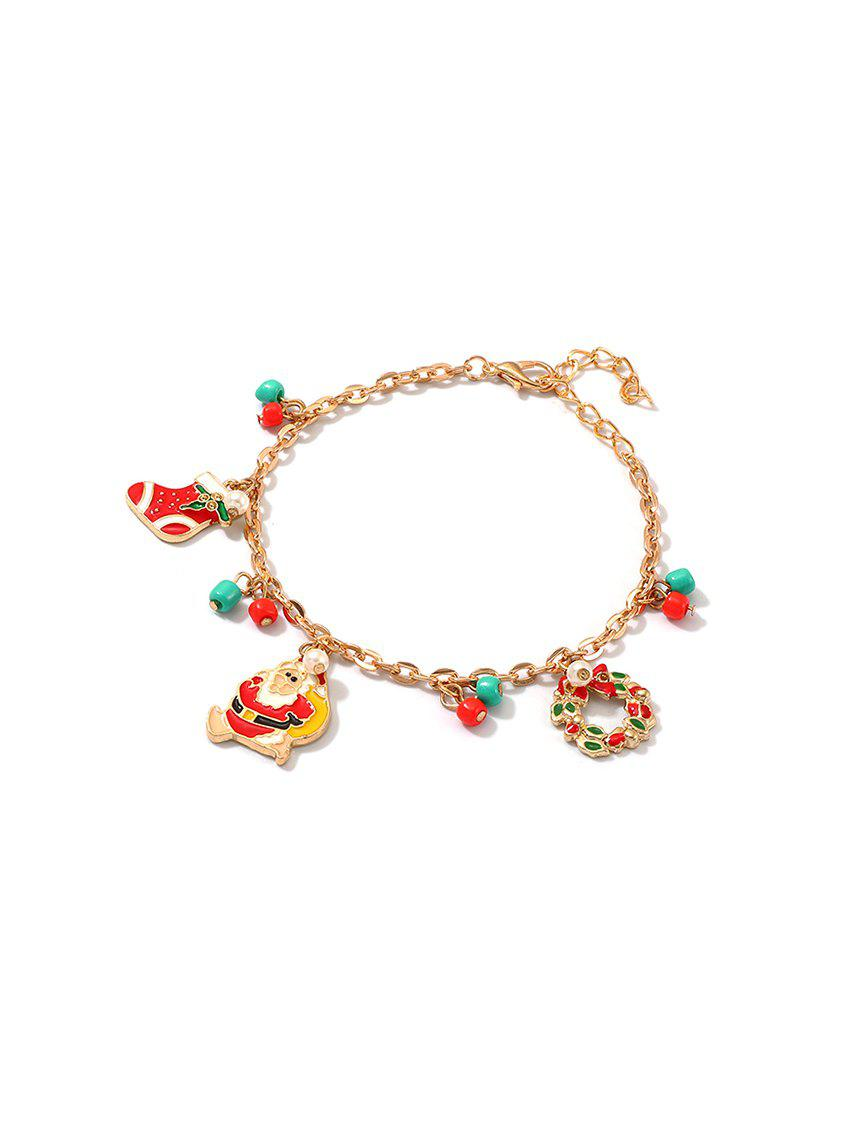 Discount Father Christmas Wreath Charm Bracelet