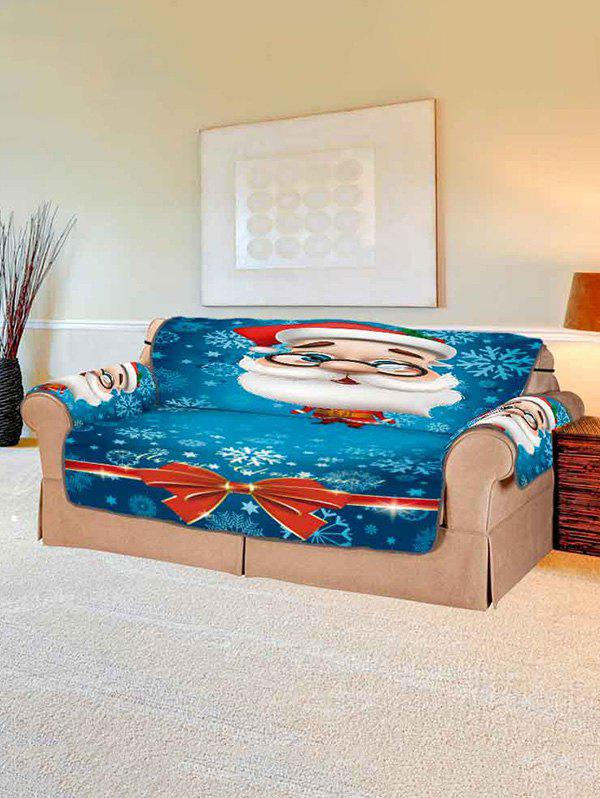 Shop Cartoon Santa Claus Couch Cover