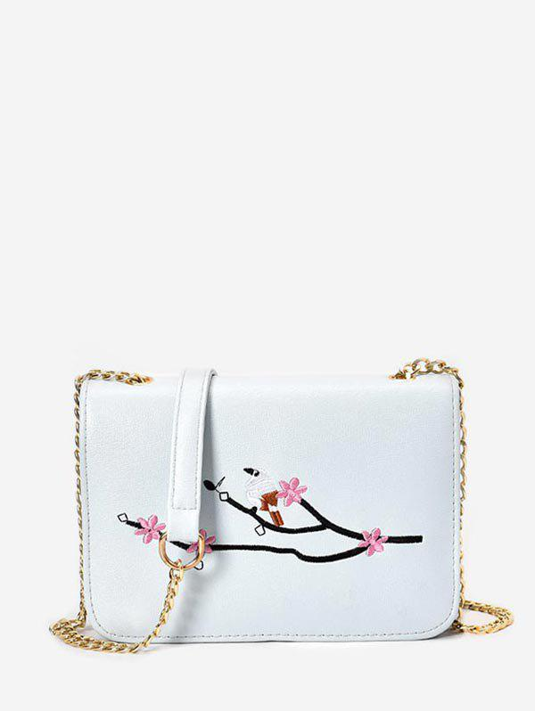 Online Embroidery Chain Small Crossbody Bag