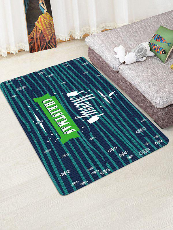 Fancy Christmas Greeting Snowflake Pattern Water Absorption Area Rug