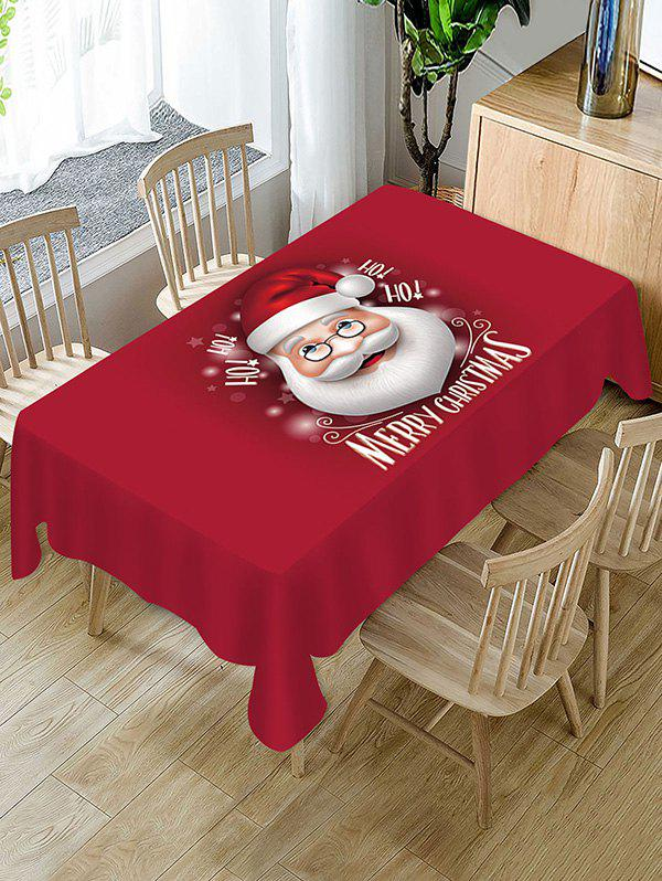 Sale Christmas Santa Claus Greeting Printed Fabric Tablecloth