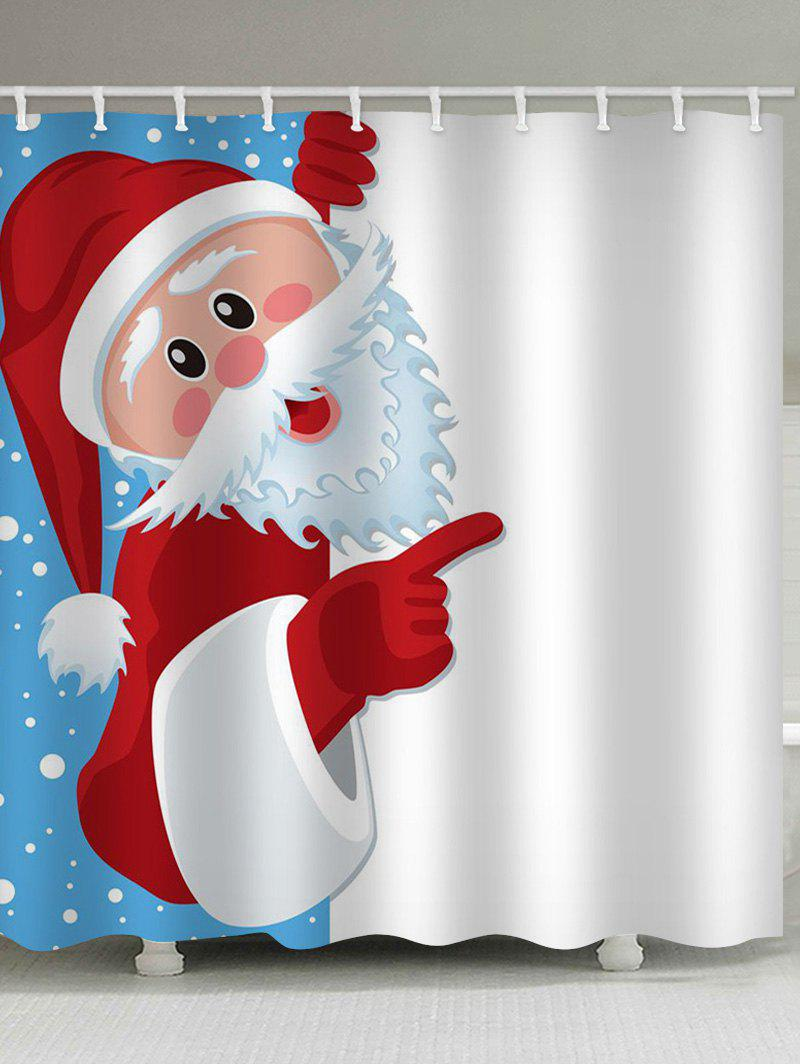 Hot Father Christmas Waterproof Shower Curtain