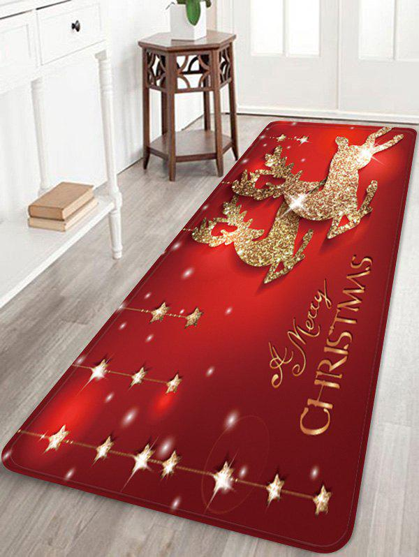 Outfits Christmas Elk Stars Greeting Pattern Water Absorption Area Rug