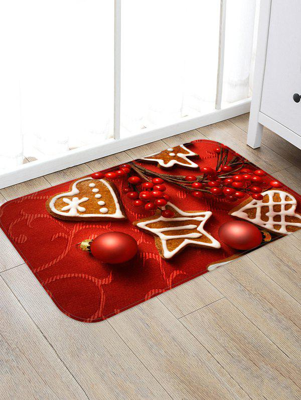 Outfits Christmas Balls Heart Biscuit Pattern Water Absorption Area Rug