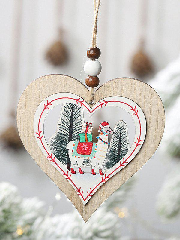 Outfit Christmas Tree Decoration Animal Pattern Heart Tree Star Shape Hanging Sign