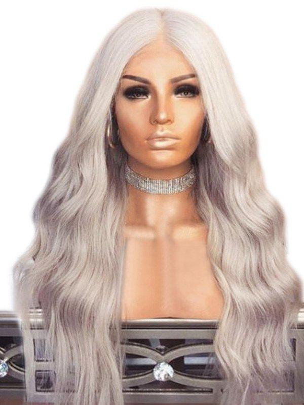 Discount Synthetic Wavy Long Center Part Wig