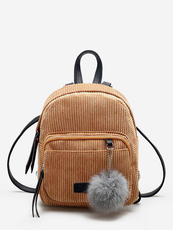 Shop Fuzzy Ball Canvas Small Backpack