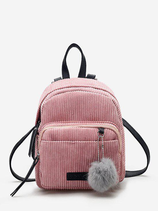 Online Fuzzy Ball Canvas Small Backpack