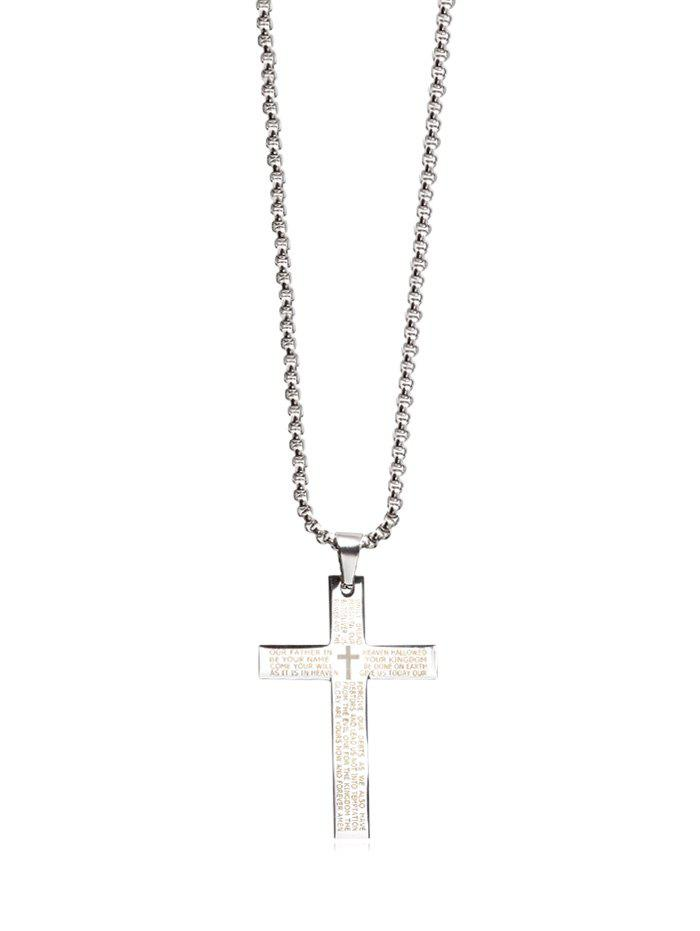 Metal Cross Letter Bible Pendant Necklace Zaful