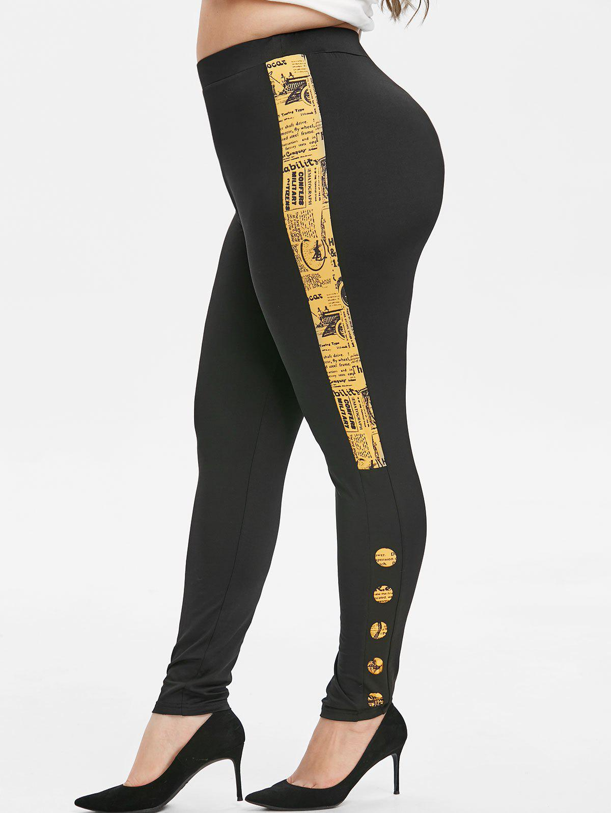 De plus journal Taille d'impression Laser Cut Leggings