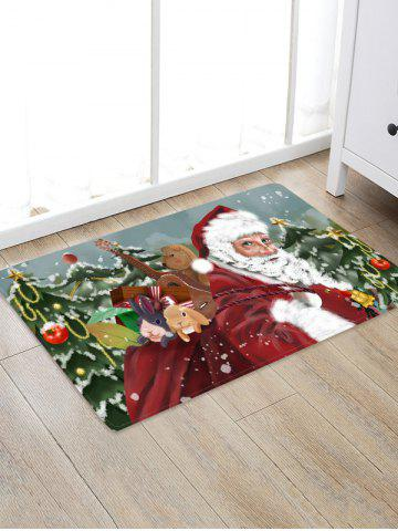 Father Christmas Tree Gift Pattern Floor Rug