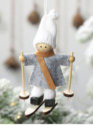 Christmas Tree Decoration Hanging Ski Doll -
