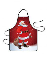 Christmas Santa Claus Snowfield Print Cooking Apron -
