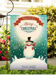 Christmas Snowman Greeting Print Garden Flag -